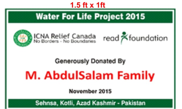 Water for Life - ICNA Relief Canada